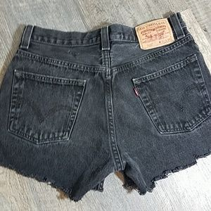 Levi's 505 High Rise distressed Shorts